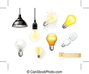 Light bulbs icons