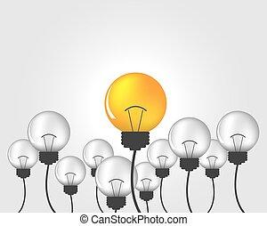 Light bulbs - Idea of light bulbs, creative design. Abstract...