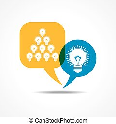 light-bulbs in message bubble