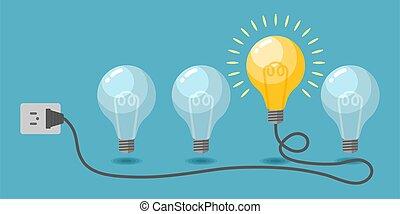 Light bulbs vector. Creative idea