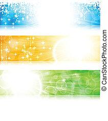 Light burst banner set