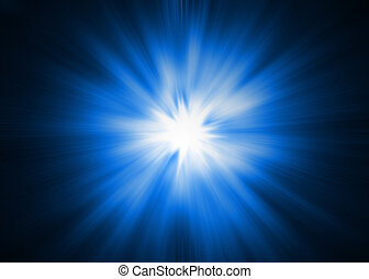 Light Burst - XL - Dramatic blue and white Lightburst / ...