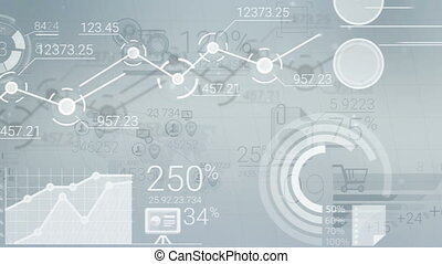 Light Business Background With Abstract Elements Of Infographics