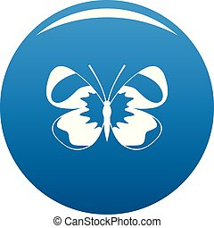 Light butterfly icon blue vector