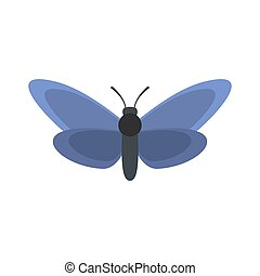 Light butterfly icon, flat style.