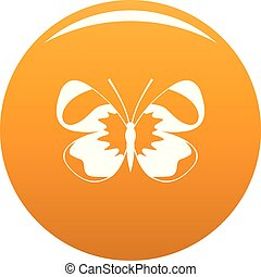 Light butterfly icon vector orange