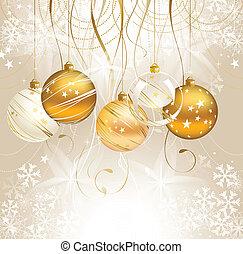 Christmas backdrop - light Christmas backdrop with five...