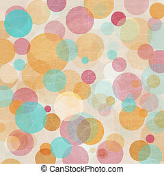 Light Colored Pink - Blue - Orange Abstract Lights Background
