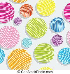 light colorful bubbles pattern
