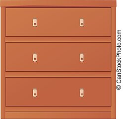 light-coloured chest of drawers