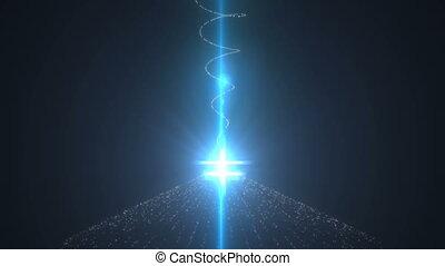 Light column. Magic background Seamless loop