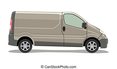 Light commercial vehicle - Side of the light commercial...