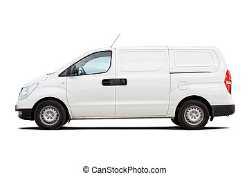 Light commercial vehicle isolated on white