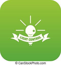 Light control icon green vector