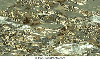 Light Crumpled Foil Seamless Background Texture