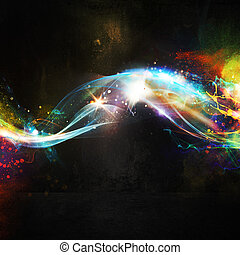 Light effect background - Background with colorful and...