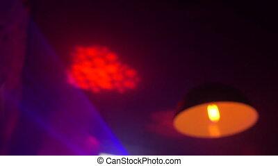 Light effects in modern night club.