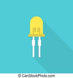 light emitting diode - Vector illustration of light-emitting...