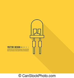 light-emitting diode. Flat design - Vector illustration of...