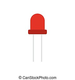 Light-emitting diode icon. Flat color design. Vector...