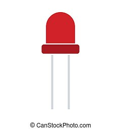 Light-emitting Diode Icon. Flat Color Design. Vector ...