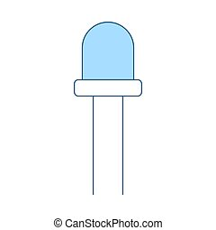 Light-emitting Diode Icon. Thin Line With Blue Fill Design. ...