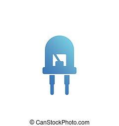 light emitting diode, led icon, eps 10 file, easy to edit