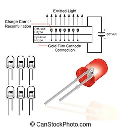 Light Emitting Diode (LED) structure. Education info...