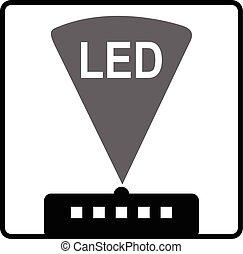 Light-emitting diode (LED) - Symbol of light-emitting diode...