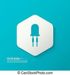 light emitting diode. vector - Vector illustration of...