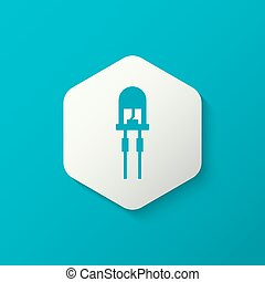 light emitting diode - Vector illustration of light-emitting...
