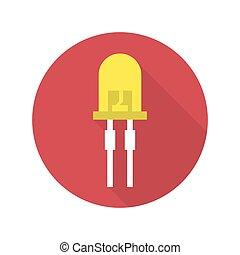 light-emitting diode vector - Vector illustration of...