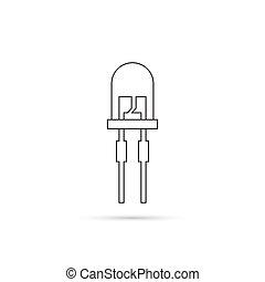 light-emitting diode. vector - Vector illustration of...