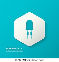 light emitting diode. vector - Vector illustration of...