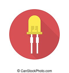 light-emitting diode vector - Vector illustration of...