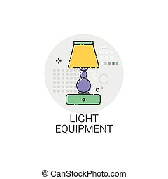 Light Equipment Home Lamp Design Icon