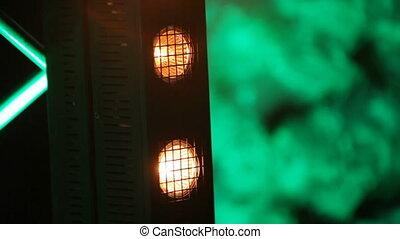 Light equipment on banquet - Rotating light equipment at...
