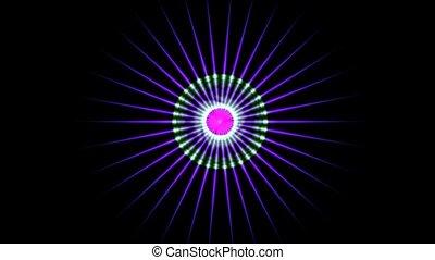Light fancy pulse,seamless loop,HD