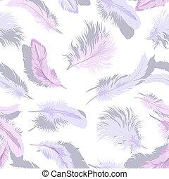 Light feathers seamless - Decorative seamless background...