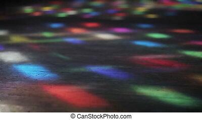 Light figure on floor