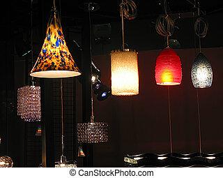 Light fixtures - Modern light fixtures on display