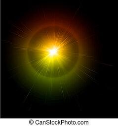 Light flare effect. Vector