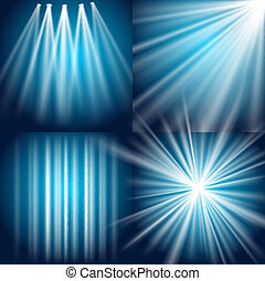 Light, flash, explosion and glow - Vector Light, Flash,...
