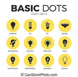 Light flat icons vector set