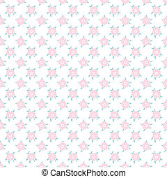 Light floral romantic vector pattern (tiling). Shabby chic...