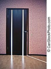 Light from behind the door
