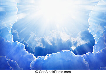 Light from heaven - Peaceful background - beautiful blue sky...