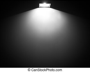 Light from lamp on the wall