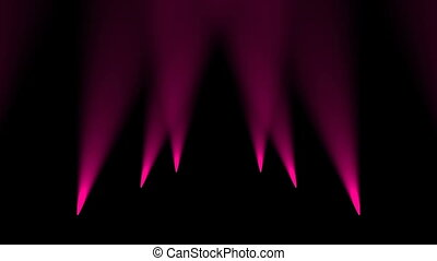 Light from spotlights floor