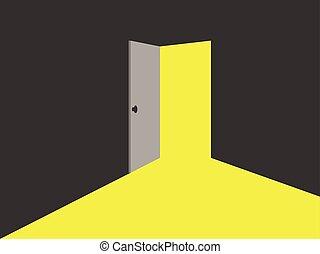 half open door drawing. Fine Open Light From The Open Door With Half Open Door Drawing